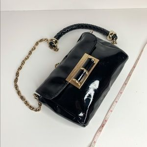 Ivanka Tump Black Pleather Mini Bag